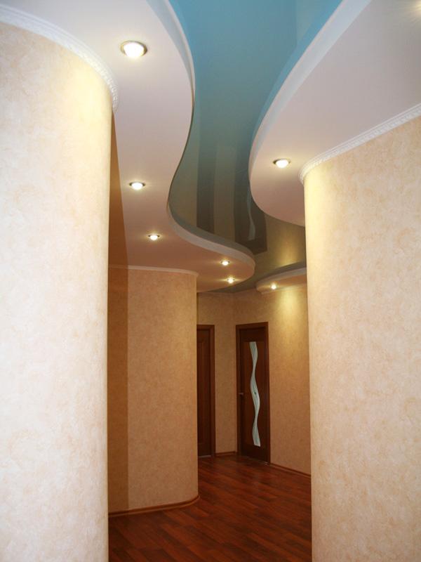 Натяжные потолки с зеркалами фото